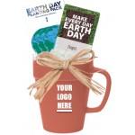 Logo Printed 14 oz. Earth Day Gift Mug