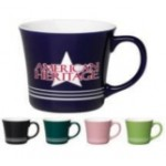16 oz. White In / Pink Out with White Bands Mug Logo Printed