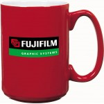 Custom Imprinted 15 Oz. Red Contempo El Grande Mug