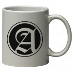 Custom Imprinted 11 oz. Light Gray C Handle Mug