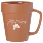 14 Oz. Terra Cotta Flower Pot Mug Custom Imprinted