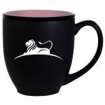 Custom Branded Hilo Bistro Two-Tone Matte Mug: Pink (16 Oz.)