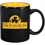 11 oz. Yellow In / Matte Black Out Hilo C Handle Mug Custom Printed