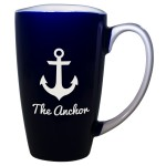 Custom Branded Blue Funnel Mug (17 1/2 Oz.)