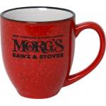 16 Oz. Red Sante Fe Bistro Mug Custom Imprinted