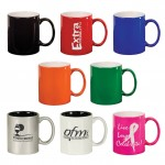 Custom Branded 11 oz. Ceramic Mugs - Laser Engraved