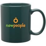 Custom Imprinted 11oz C-Handle Mug (Green)