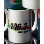 Sublimated Two-Tone Mug Green Inside (15 Oz.) Custom Printed