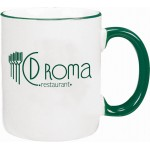 11 Oz. Color Heartland C-Handle Ceramic Mug Custom Imprinted