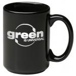 Logo Printed 15 oz. Black Jumbo Mug