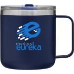 12oz Camper Mug (Matte Blue) Logo Printed