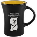 Slim Mug Two-Tone Matte - Yellow Logo Printed