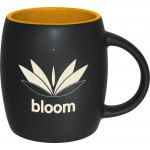 Barrel Two-Tone Matte Mug: Deep Saffron (14 Oz.) Logo Printed