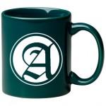 11 oz. Green C Handle Mug Logo Printed