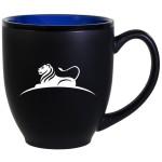 Logo Printed Hilo Bistro Two-Tone Matte Mug: Blue (16 Oz.)