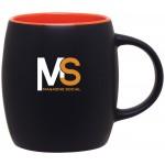 Custom Imprinted 14oz Joe Mug (Matte Black & Orange)