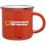 15oz Ventura Mug (Orange & White) Custom Printed