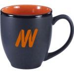 16 Oz. Black Matte Out/Color In Bistro Ceramic Mug Logo Printed