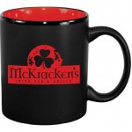 Logo Printed 11 oz. Red In / Matte Black Out Hilo C Handle Mug