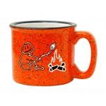 15 oz. Orange Out White In Campfire Mug Custom Printed