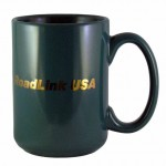 15 oz. Green Jumbo Mug Logo Printed