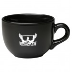 24 oz. Black Souper Mug Logo Printed