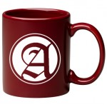Custom Branded 11 oz. Burgundy C Handle Mug