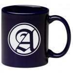11 oz. Cobalt Blue C Handle Mug Logo Printed