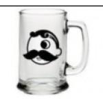 Custom Branded 15 Oz. Glass Handled Mug