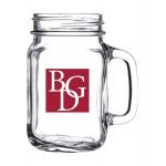 Logo Printed 16.5 oz. Handled Drinking Jar