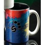 Sublimated Two-Tone Mug Black Inside (15 Oz.) Custom Imprinted