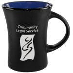 Logo Printed Slim Mug Two-Tone Matte - Country Blue