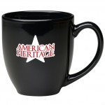 16 oz. Black Bistro Mug Custom Printed