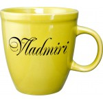 Custom Imprinted 17 oz. Yellow Mocha Mug