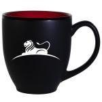 Hilo Bistro Two-Tone Matte Mug: Red (16 Oz.) Logo Printed