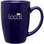 14oz Contour Mug (Cobalt Blue) Logo Printed