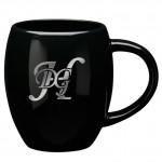Custom Branded 16 oz. Black Barrel Mug