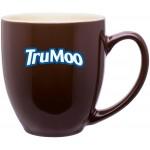 Custom Branded 15oz Bistro Mug (Brown & Cream)