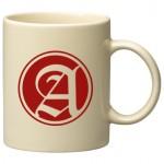 11 oz. Almond C Handle Mug Logo Printed