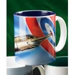 Custom Imprinted Sublimated Two-Tone Mug Cobalt Inside (11 Oz.)