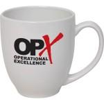 Custom Branded 16 Oz. White Ceramic Bistro Mug