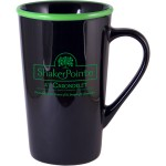 Custom Imprinted 16 Oz. Black Out/Color Rim J-Mac Mug