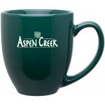 15oz Bistro Mug (Green) Logo Printed