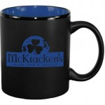 Logo Printed 11 oz. Country Blue In / Matte Black Out Hilo C Handle Mug