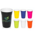 16 oz USA MADE Reusable Double Wall Insulated Plastic Gameday Beverage Travel Party Cups Custom Imprinted