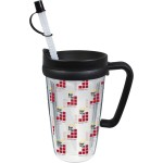 Custom Imprinted 16 Oz. Double Wall Insulated Thermal Travel Mug - Clear Printed Insert
