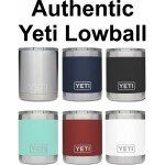 Authentic YETI 10 oz. Lowball Laser Engraved Logo Printed