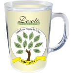 Custom Imprinted 14 Oz. Double Insulated Mug - White Printed Insert
