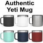 Authentic YETI 14 oz Mug Laser Engraved Logo Printed