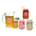 Custom Printed Glass Pitcher & Handled Jar Set - Etched